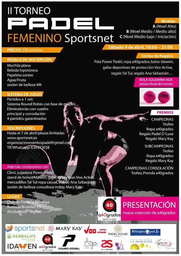 II Torneo padel femenino SportsNet